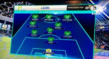 #EpicFail: Fox Sports lo hace de nuevo, pone a van Persie y Rooney en el León