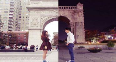 La distancia no interfiere para nada en el amor de esta pareja