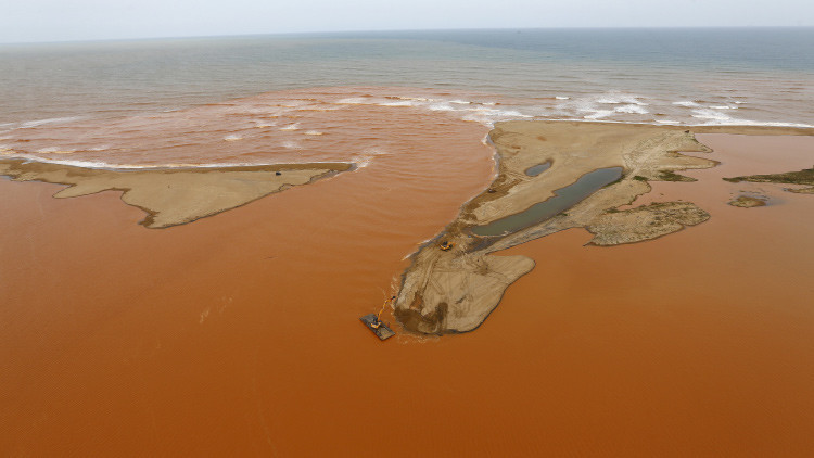 Desastre ecológico en Brasil