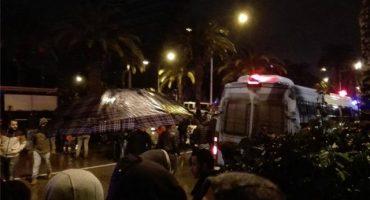 Ataque al autobús de la guardia presidencial en Túnez
