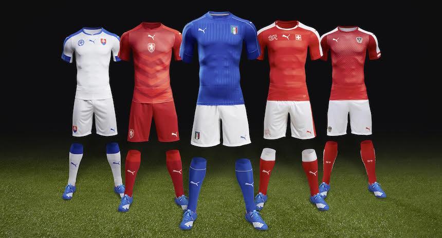 Puma presentó los nuevos uniformes para la Euro 2016