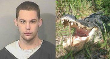Ladrón logra escapar de la policía, pero se lo come un cocodrilo