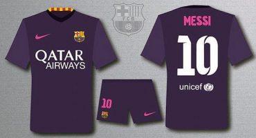 Así sería la playera de visitante del Barcelona para el siguiente torneo