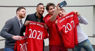 El Bayern Múnich renovó a cuatro de sus futbolistas más importantes