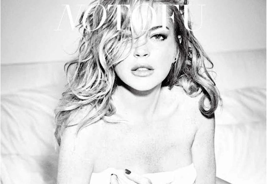 La sexy sesión de fotos de Lindsay Lohan para NoTofu Magazine