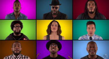 El elenco de The Force Awakens canta Star Wars a Capella con The Roots y Jimmy Fallon