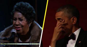 Cuando Aretha Franklin hizo llorar a Obama con una de sus presentaciones