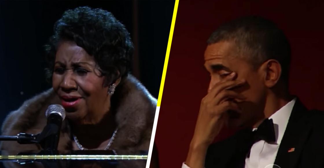 Aretha Franklin y Obama