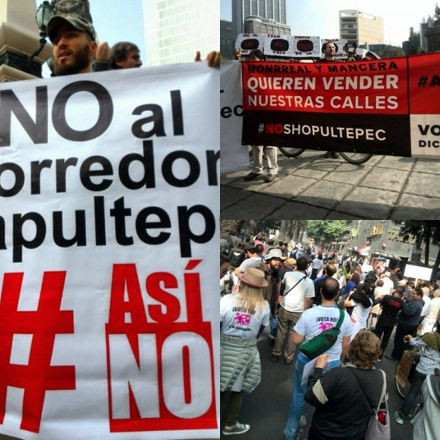#AsíNo: Marcha por #NoShopultepec