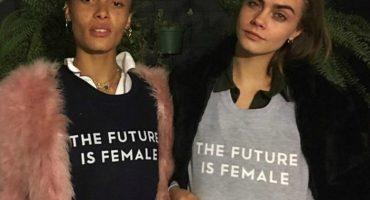 La modelo Cara Delevingne es acusada de plagiar leyenda feminista