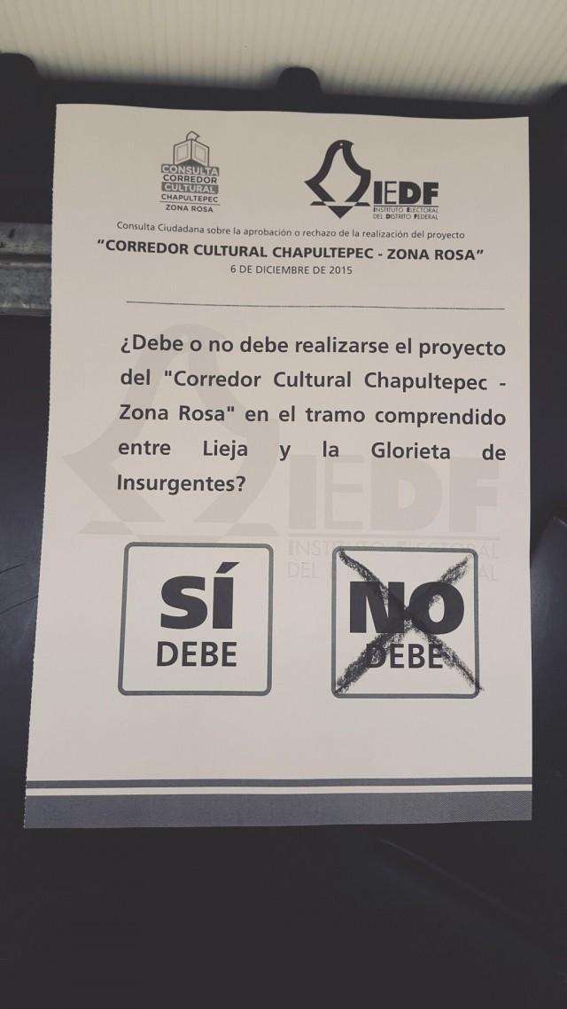 Hoy es la Consulta Ciudadana del Corredor Cultural Chapultepec ¿ya fuiste a votar?