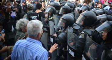 Veracruz: policía reprime a jubilados que exigían pago de pensiones