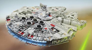 Fan de Star Wars se tarda un año en hacer una réplica del Millennium Falcon con Legos