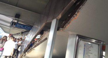Hubo un derrumbe de escaleras en metro Nativitas; se registran dos lesionados