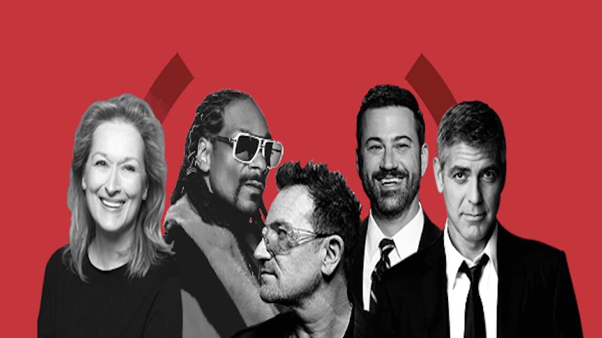 Apoya una causa y gana experiencias con Bono, Matt Damon y Tom Brady