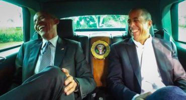 Jerry Seinfeld y Obama, charlando juntos en un auto
