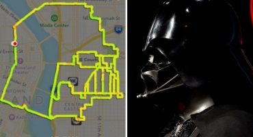 Un hombre trazó figuras de Star Wars usando app de GPS al correr