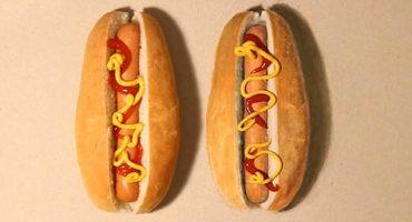 ¡Nuevo Reto! ¿Cuál de estos dos Hot-Dogs es un dibujo?