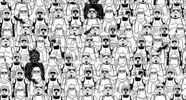 Ahora encuentra al panda entre estos Stormtroopers