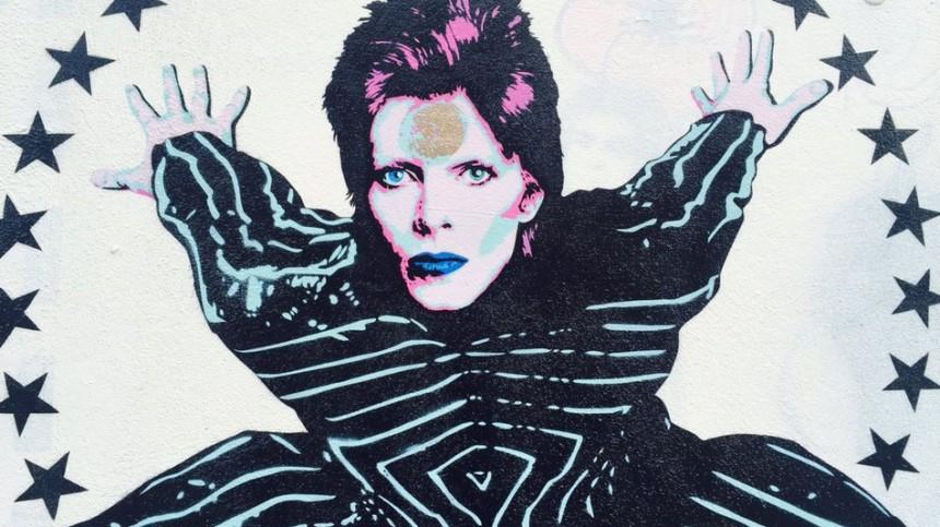 El tributo de un artista urbano a David Bowie en Londres