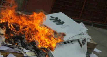 Ahora en Oaxaca: roban 8 mil boletas electorales... autoridades dicen que fueron quemadas