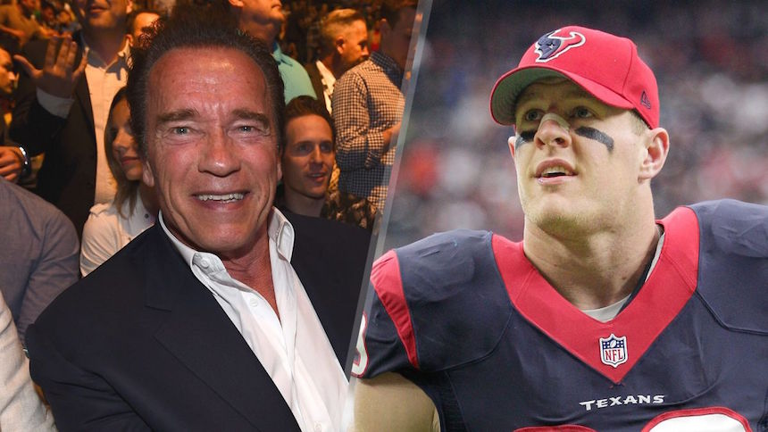 JJ Watt recibió un mensaje de apoyo de parte de Arnold Schwarzenegger