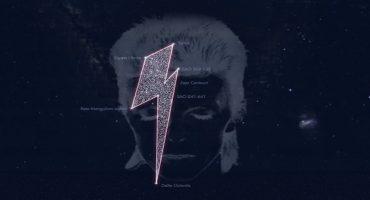 Homenajean a David Bowie con una constelación en forma de rayo