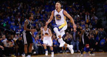 Stephen Curry volvió locos a los San Antonio Spurs