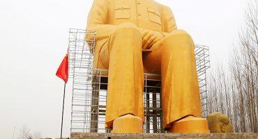 China: levantan mega estatua en honor a Mao Tse Tung