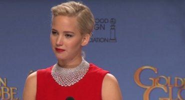 Jennifer Lawrence regaña a reportero en los Golden Globes