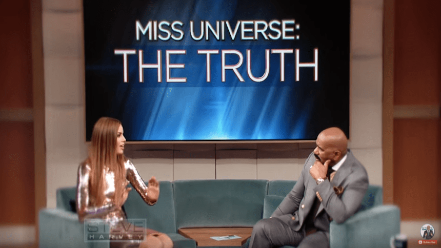 Awww! Steve Harvey se puso a chillar en su reencuentro con Miss Colombia