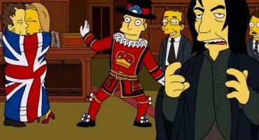 Con anticipación, así Los Simpsons homenajearon a David Bowie y Alan Rickman