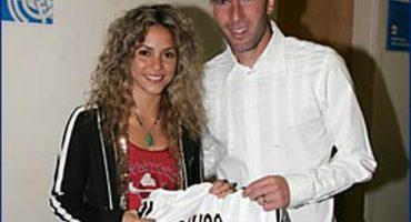 Las fotos de Shakira junto a Zinedine Zidane, entrenador del Real Madrid