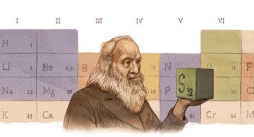 Dmitri Mendeléyev y el doodle de hoy