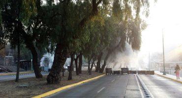 Disturbios en Ciudad Universitaria, cierran Circuito Escolar
