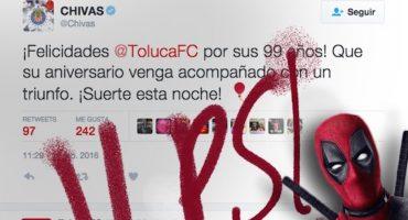 Atlas trollea a Chivas en su partido contra el Toluca