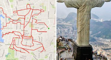 Artista crea imágenes en su GPS solo usando su bicicleta