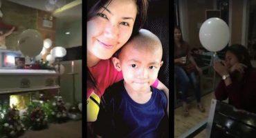 Un globo para mamá: ¿La emotiva despedida de un niño en su funeral?