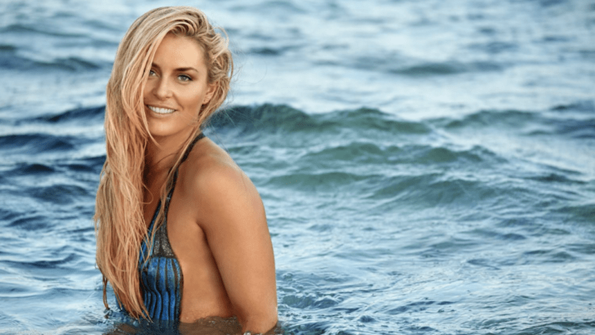 Así se ve Lindsey Vonn con bodypaint para Sports Illustrated