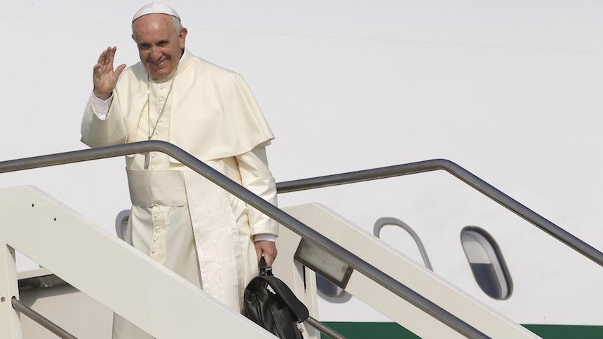 Con ustedes, el menú del Papa Francisco durante sus vuelos en México