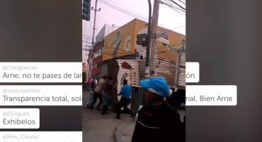 Con camión de la delegación MH muda puesto ambulante, ¿quién creen que lo evidenció?