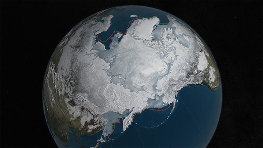 La capa de hielo invernal del Ártico, reducida a un mínimo histórico