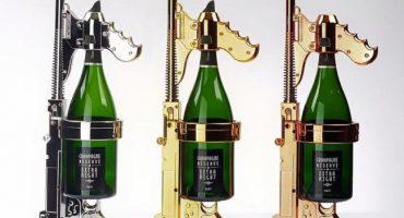 Una compañía diseñó metralleta de champaña porque por supuesto