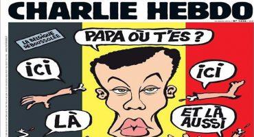 Y en la imagen del día... Charlie Hebdo se burla de atentados en Bruselas