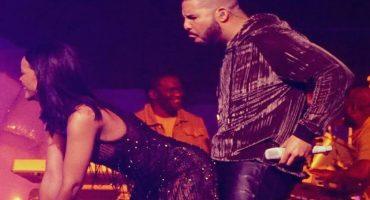 ¡Firmes! Drake se emocionó de más cuando Rihanna le hizo Twerking