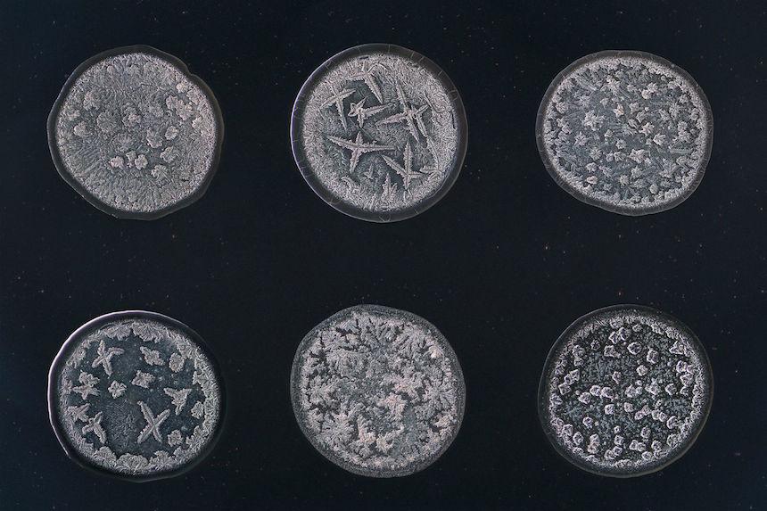 La belleza de las lágrimas vista bajo un microscopio
