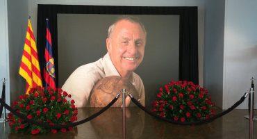 Le dieron el último adiós a Johan Cruyff en el Camp Nou