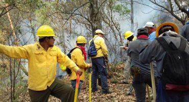 Incendio forestal en Tepoztlán no ha sido controlado por completo