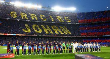 Camp Nou se rinde ante el emotivo homenaje a Johan Cruyff