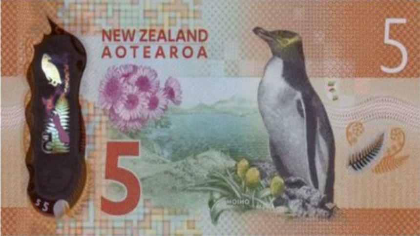 El billete de cinco dólares neozelandeses es declarado
